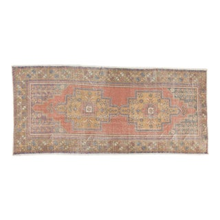 "Vintage Distressed Oushak Rug Runner - 4'5"" x 9'6"""