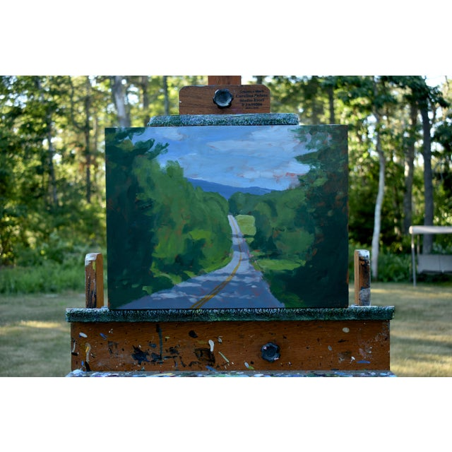 """Titled """"Back Road in Vermont (Double Yellow Line)"""". Such a common scene while traveling through Vermont in the summer...."""
