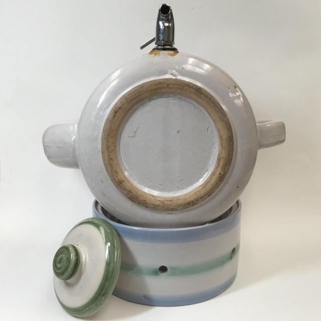 Vintage Pottery Beverage Dispenser - Image 3 of 8