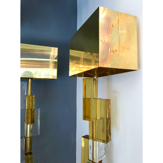 Contemporary Floor Lamps Cubic Murano Glass. Italy For Sale - Image 6 of 13