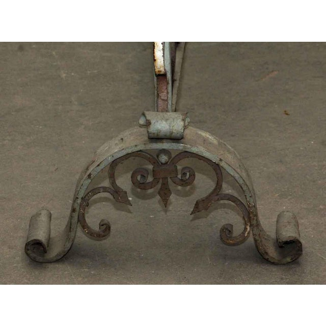 20th Century Traditional Wrought Iron Fire Place Screen For Sale - Image 6 of 10