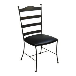 Charleston Forge Iron Ladderback Side Chair For Sale