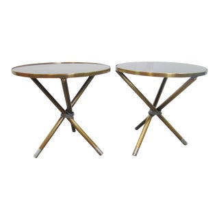 Modern Design Steel Tripod Tables - a Pair For Sale