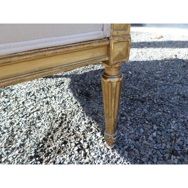 Louis XVI Style Giltwood Settee For Sale - Image 9 of 13