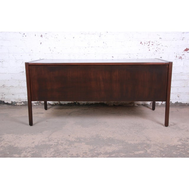 Jens Risom Mid-Century Modern Walnut Executive Desk, 1960s For Sale - Image 11 of 13