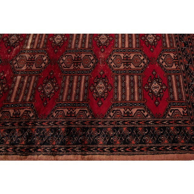 """Persian Vintage Persian Rug, 3'02"""" X 4'10"""" For Sale - Image 3 of 8"""