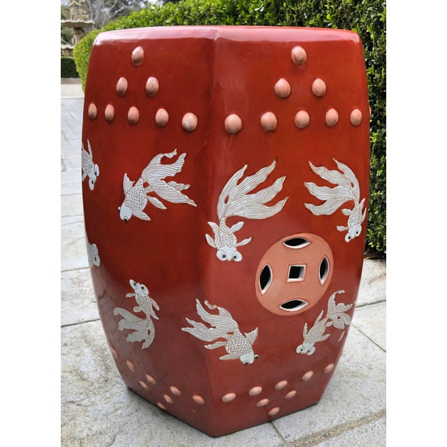 Amazing Modern Ceramic Asian Garden Stool Chairish Theyellowbook Wood Chair Design Ideas Theyellowbookinfo