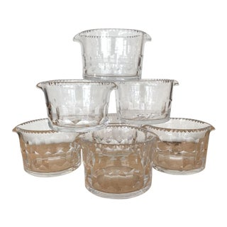 19th Century Cut Crystal Wine Rinsing Bowls - Set of Seven For Sale
