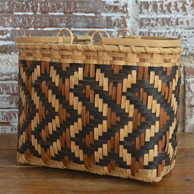 Carol Welch Cherokee White Oak Purse Basket - Image 5 of 10