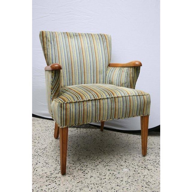Heywood-Wakefield Heywood Wakefield Upholstered Chair, 1960s, USA For Sale - Image 4 of 8