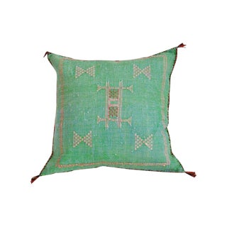 Moroccan Dusty Pistachio Sabra Throw Pillow For Sale
