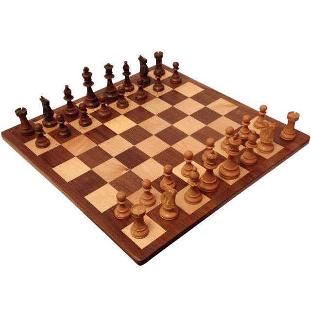 Vintage Drueke & Sons Chess Set in Walnut For Sale