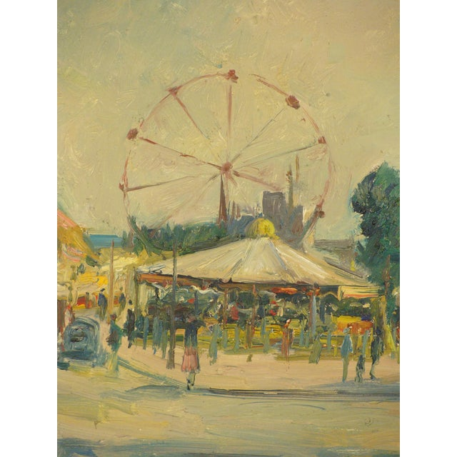 1970s Carnival Scene Painting by Zoma Baitler For Sale - Image 5 of 13