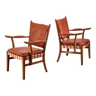 Pair of Josef Frank Chairs, Austria, Circa 1930 For Sale