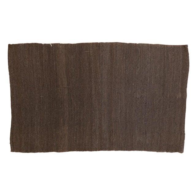 "Brown Vintage Turkish Kilim Rug - 2'4"" X 3'10"" For Sale - Image 8 of 8"