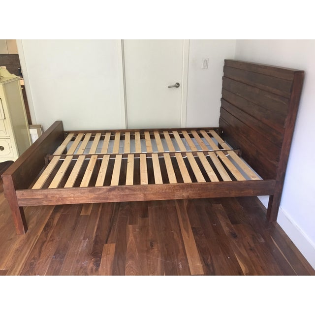 Queen Sized West Elm Bed Frame Chairish