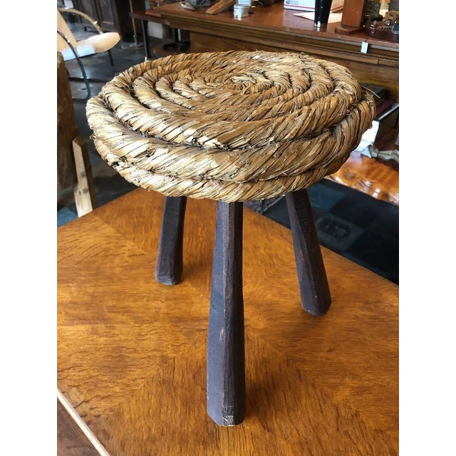 Mid-Century Modern 1960s Vintage Audoux Minet Stool For Sale - Image 3 of 10
