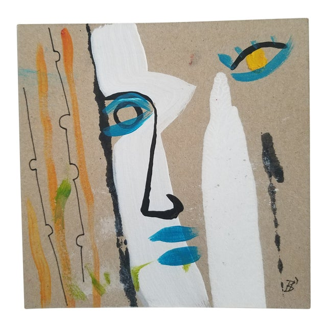 Modern Abstract Face Painting For Sale