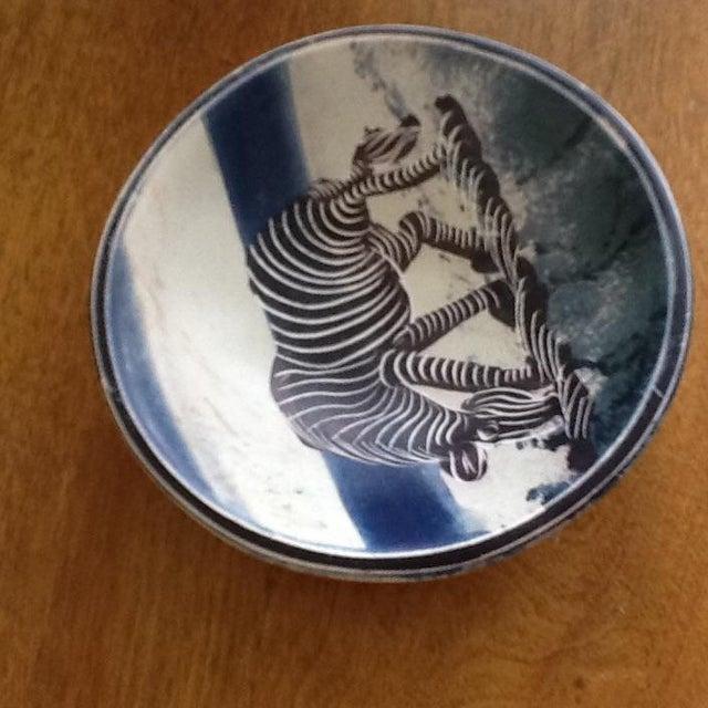 African Zebra Trinket Tray - Image 3 of 11