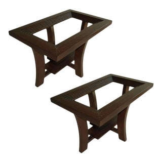 Paul Frankl Side Tables for Brown Saltman - A Pair For Sale