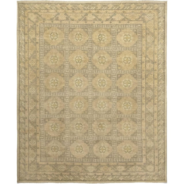 "Beige Traditional Hand-Knotted Area Rug 8' 0"" x 9' 8"" For Sale - Image 8 of 8"