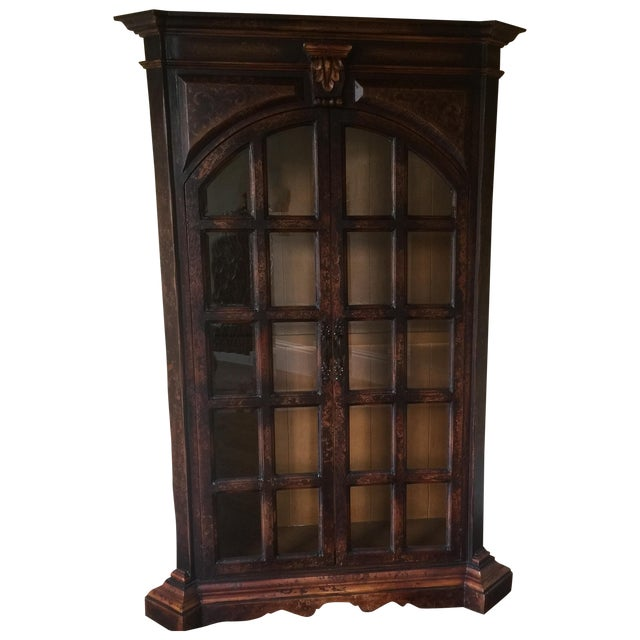 Traditional Wooden Armoire with Beveled Glass - Image 1 of 5