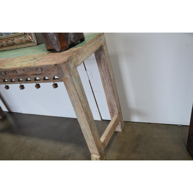 Vintage Teak Console For Sale In Los Angeles - Image 6 of 12