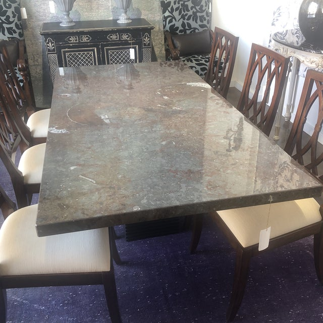 Italian Contemporary Stone Dining Table, Stone Dining Room Furniture