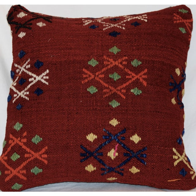 Vintage Handmade Wool Decorative Boho Pillow For Sale - Image 7 of 7