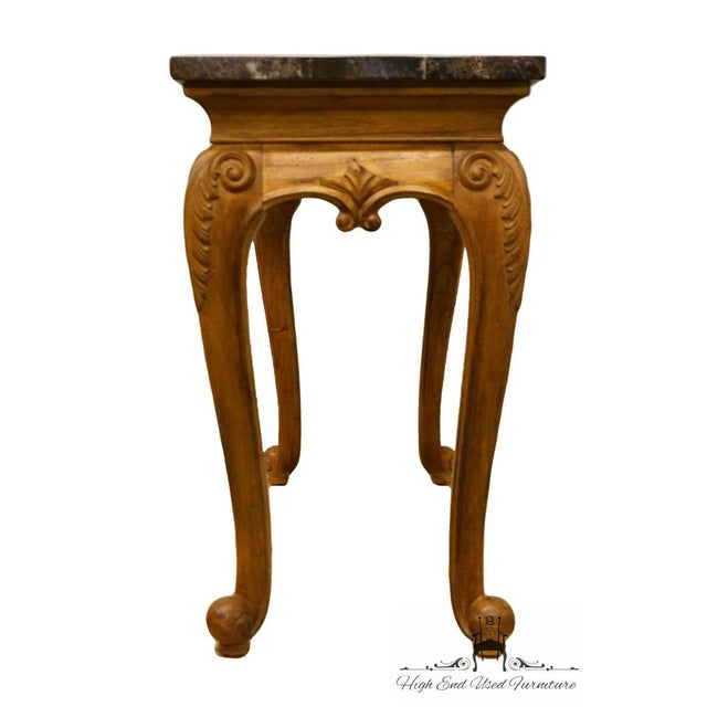 """Late 20th Century Hekman Furniture Louis XVI Marble Top 51"""" Sofa Table For Sale - Image 5 of 8"""