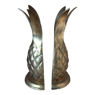 Regency Brass Pineapple Bookends - a Pair