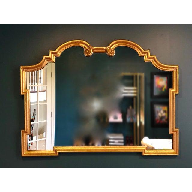 Gold 1960s Vintage La Barge Italian Hollywood Regency Gold Gilt Mirror For Sale - Image 8 of 9