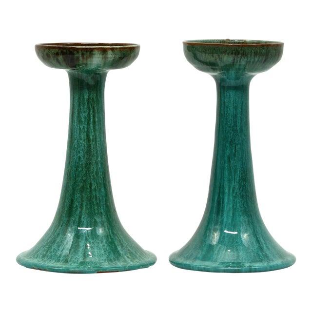 Vintage Blue Mountain Pottery Candlesticks A Pair Chairish
