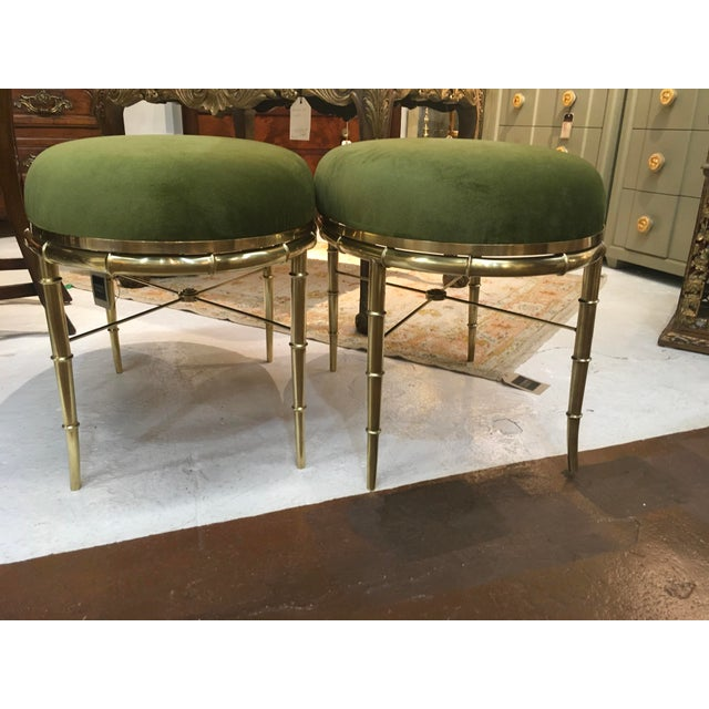 Mastercraft Brass Faux Bamboo Benches - a Pair For Sale In Atlanta - Image 6 of 10