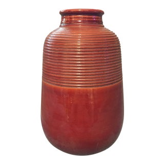 Italian Mid-Century Modern Red Clay Vase For Sale