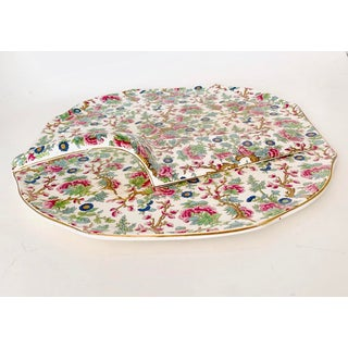 Vintage Chintz English Floral Cake Serving Platter and Pie Knife - the Set Preview