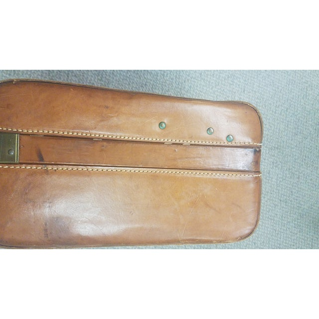 Americana Mid-Century Modern Hartmann Leather Suitcase For Sale - Image 3 of 6