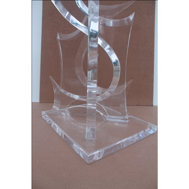 Abstract Lucite Sculpture by Van Tial - Image 6 of 11