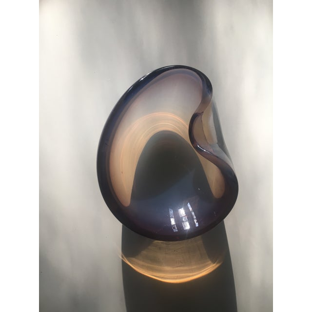 Murano Mid Century Modern Murano Opalescent Italian Art Glass Bowl For Sale - Image 4 of 6