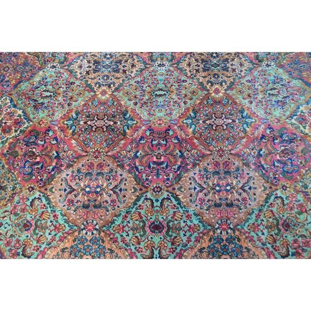 Karastan #717 Multi Panel Kirman Large Room Size Rug For Sale In Philadelphia - Image 6 of 13
