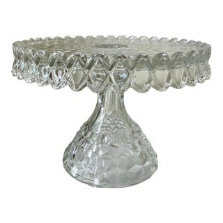 "Fostoria Elegant Glass ""American"" Round Salver – Pattern Line #2056 For Sale"