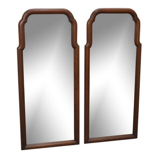 Henkel Harris Solid Cherry Traditional Wall Mirrors - a Pair