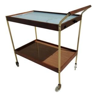 Vintage Salton Mid Century Serving Bar Cart For Sale