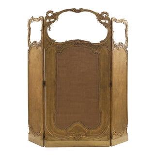 Louis XV Gilt 3-Fold Screen For Sale