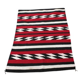 Navajo Indian Weaving in Chevron Pattern Rug For Sale