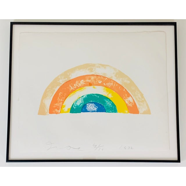 """1970s """"Rainbow"""" Jim Dine Signed Limited Edition Lithograph, 1972 For Sale - Image 5 of 13"""