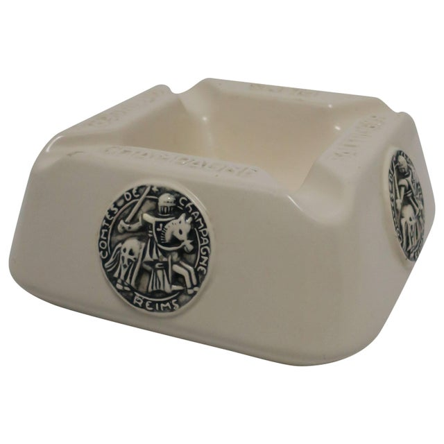 French Taittinger Champagne Cigar Ashtray For Sale - Image 9 of 9