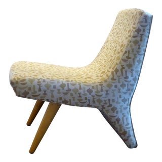 """Modern and Unsual Lounge Chair Upholstered in George Nelson's """"China Shop"""""""