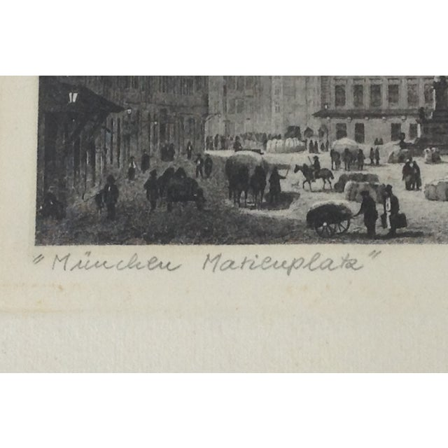 Signed German Stone Etchings - A Pair For Sale - Image 9 of 11