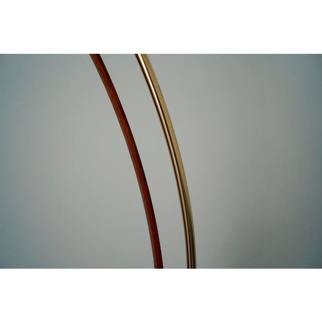 Gold Mid-Century Modern Nova Lighting Arc Floor Lamp For Sale - Image 8 of 11